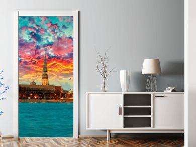 Riga sunset, Latvia