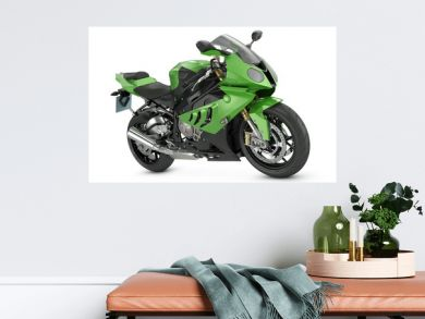 Green Sport Motorcycle
