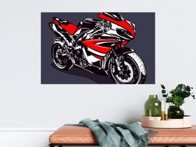 Red sport motorbike