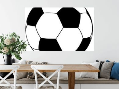 black-white fooball - simple vector illustration