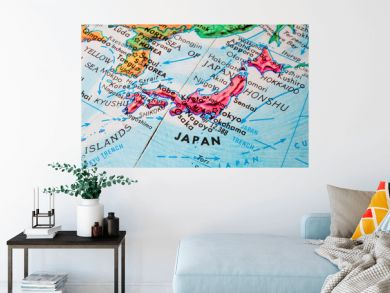 Old Globe Map of Japan