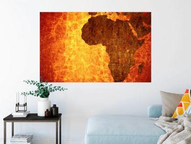 Grunge vintage scratched Africa map background.