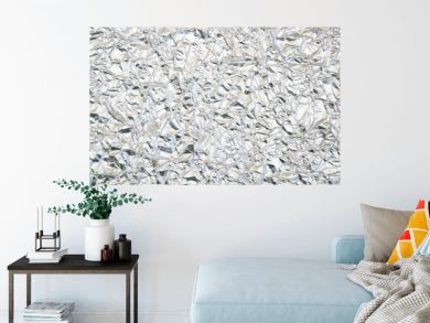 crumpled tin foil background