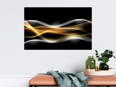 Creative Light Fractal Waves Art Abstract Background