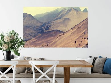 Fantastic landscape lifeless mountains