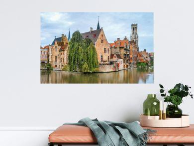 Brugge canals at sunrise