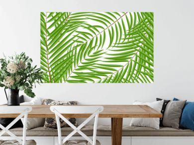 Beautifil Palm Tree Leaf  Silhouette Seamless Pattern Background