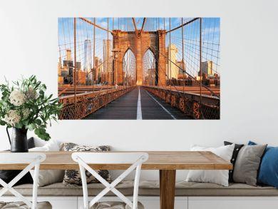 Brooklyn Bridge at sunrise, New York City , Manhattan