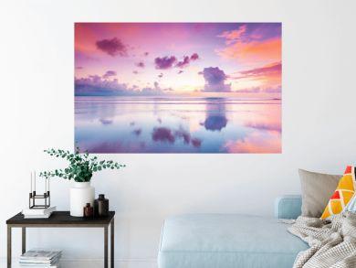 Sunset over sea on Bali