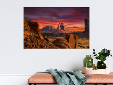 Spectacular Sunrise in Monument Valley