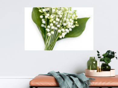Lily of the Valley Isolated on White