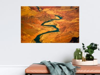 Beautiful landscape view of curved colorado river in Grand canyon