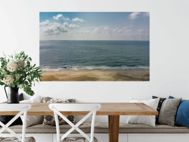 Atlantic ocean and the sandy beach in Western France