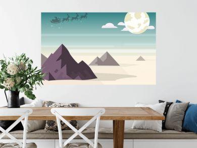 santa mountain with sea landscape