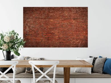 Wide angle Vintage Red brick wall Background