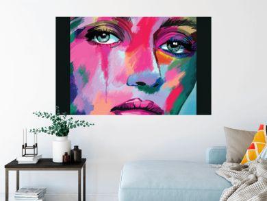 portrait of a woman face