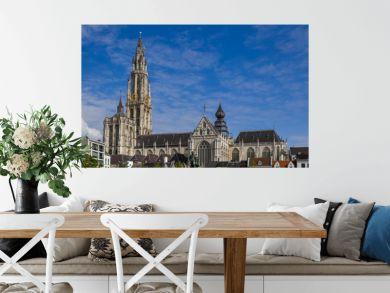Cathedral on Grote Markt in Antwerp - Belgium