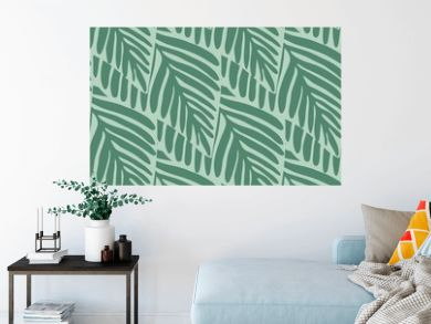 Summer nature jungle seamless pattern. Exotic plant.
