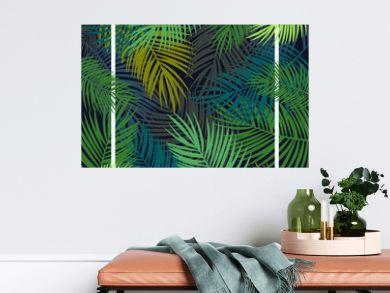 Tropical leaves background, flyer template, illustration