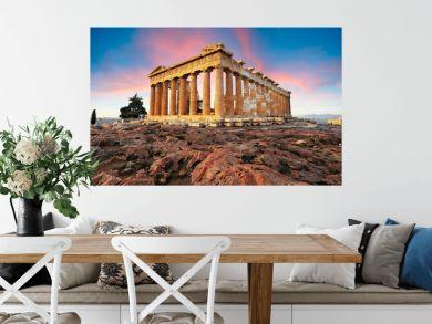Parthenon on Acropolis, Athens, Greece. Nobody