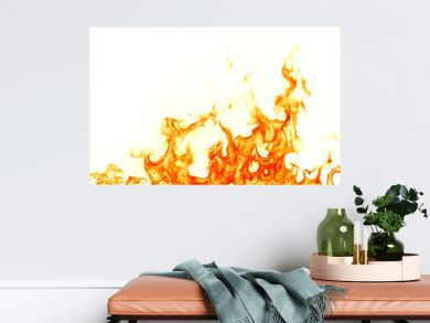 Fire flames isolated on white background.