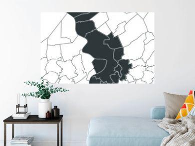 Antwerpen (Antwerp), Belgium map — dark grey administrative territory on a light background