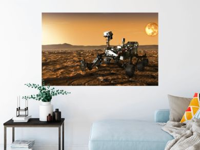 rover meets morning dawn on mars.  Elements of this image furnished by NASA.