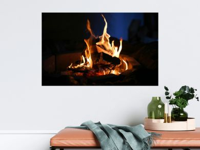 Photo macro of fire flames