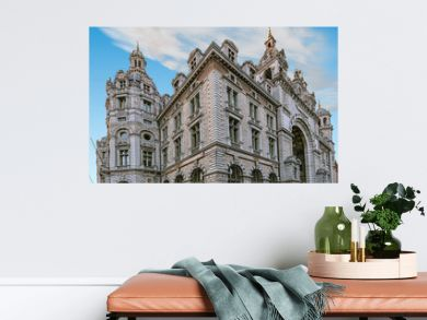 Facade of Antwerpen central railway station, Belgium
