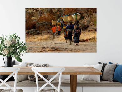 femmes malienne de retour du marché