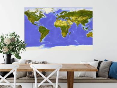 World map centered on Africa.