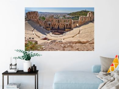 ancient theatre under Acropolis of Athens, Greece
