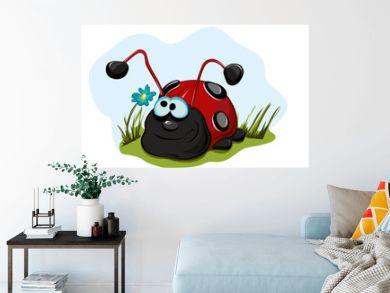 Cheerful ladybug for children.