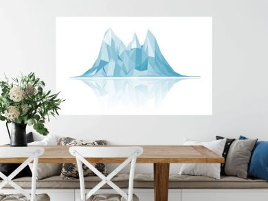 Mountains low-poly style illustration