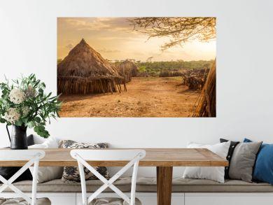Hamer village near Turmi, Ethiopia