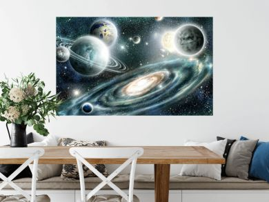 Solar system and spiral galaxy
