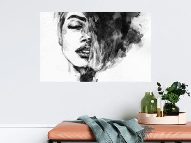 Woman face. Fashion  illustration