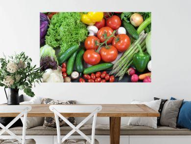 Colorful fresh vegetables banner