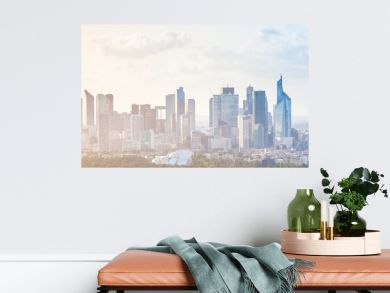 Modern cityscape, panoramic background