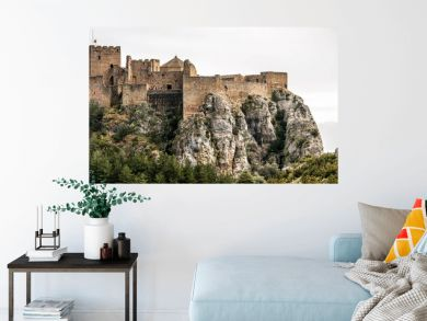 Landscape with Loarre Castle in Huesca, Aragon in Spain