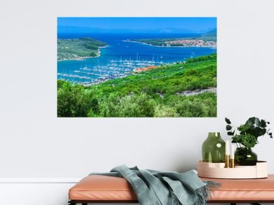 Wonderful romantic summer afternoon landscape panorama coastline