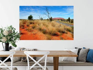 Australia Landscape : Uluru Road to Red rock of Alice Spring, Yulara, Mutitjulu
