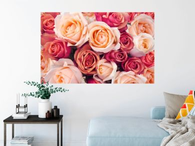 Roses as a background