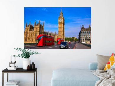 Big Ben Clock Tower and London Bus