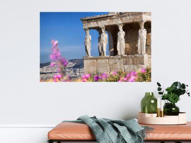 Parthenon temple during spring time on the Athenian Acropolis, Greece