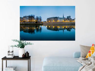 Seine River in Paris France at Sunrise