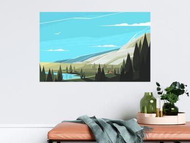 Forest natural landscape
