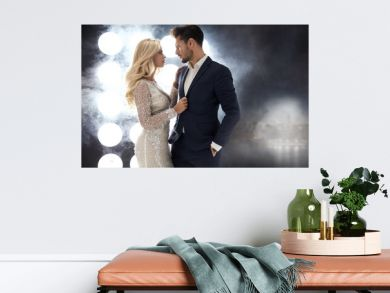 Romantic style portrait of an elegant couple
