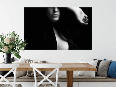 erotic beautiful woman in dark