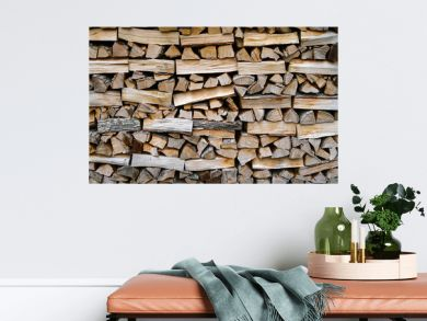 stacking fire wood